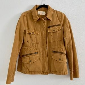 Camel JCrew military jacket